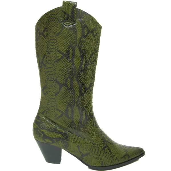 NEW GREEN SNAKESKIN COWGIRL COWBOY WESTERN BOOTS  Preview